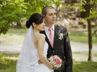 Сватбен фото портрет в парка