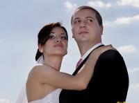 Сватбен портрет на открито