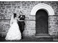 Сватбени моменти черно на бяло